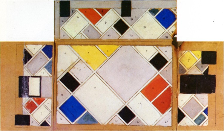 Procedural painting for the Ciné-Dancing Hall. ImageTheo van Doesburg