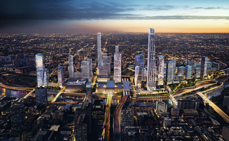 SOM Reveals Plans for New Urban District Around Philadelphia's 30th Street Station , 30th Street Station anchors a new city district with up to 18 million square feet of development. Image © SOM
