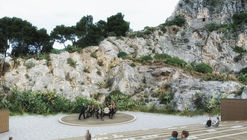 First Prize Winning Design Cuts Natural Amphitheater Into Cliffside in Italy