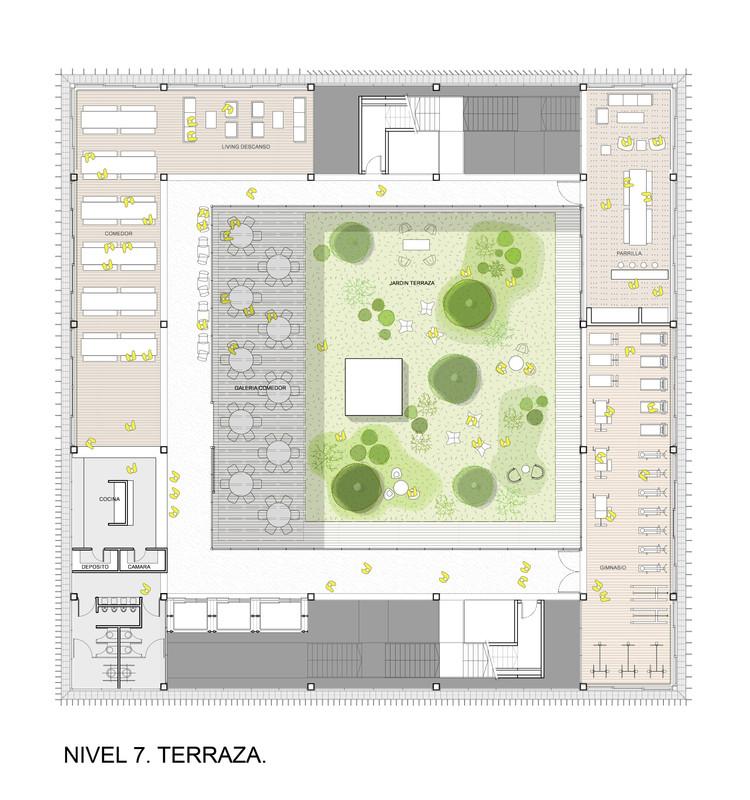 Planta Terraza Nivel 7