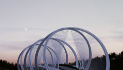 Penda Designs Bridge Inspired by Olympics Rings for 2022 Beijing Winter Games