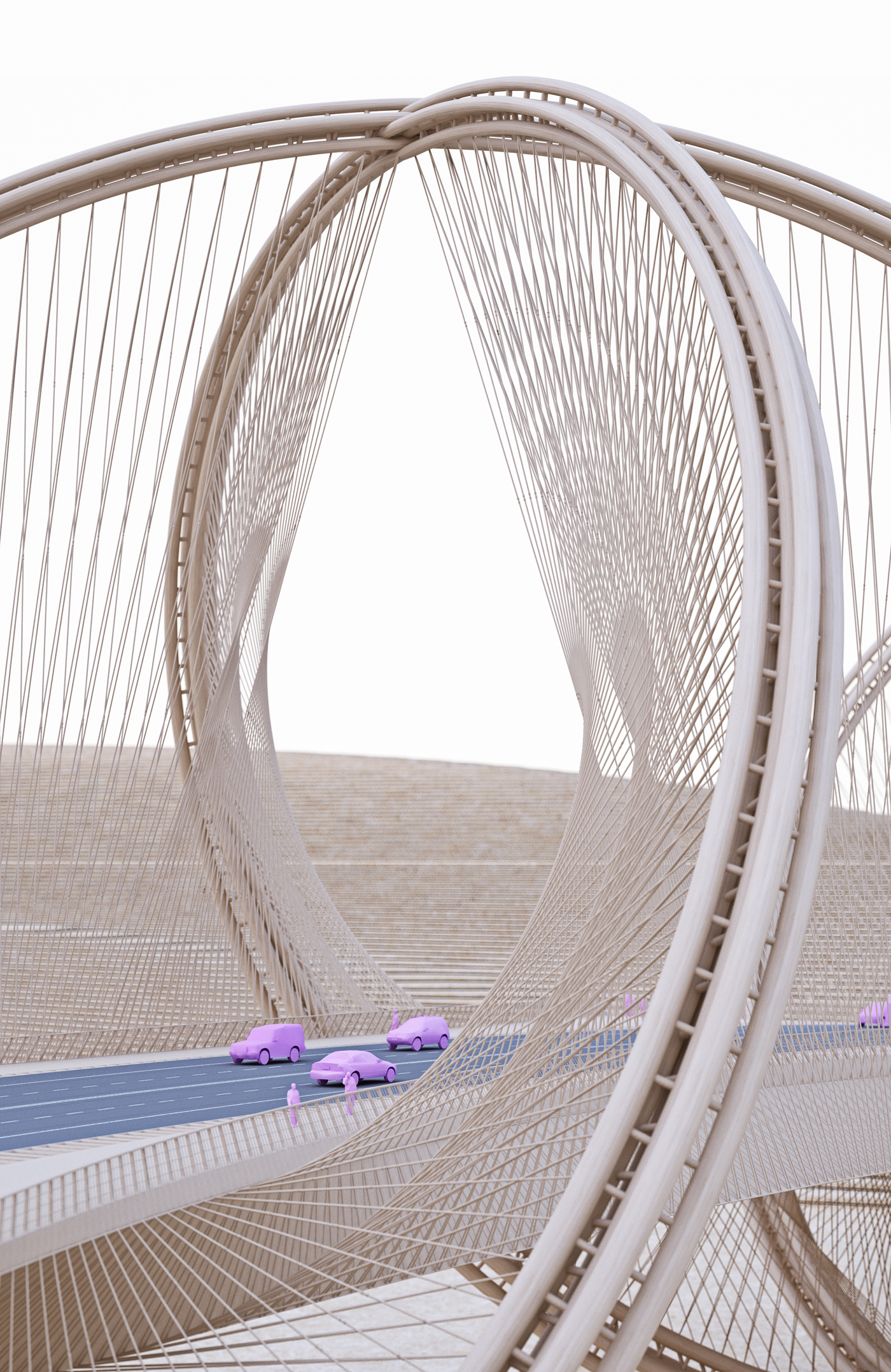 Bridge inspired by olympics rings for 2022 beijing winter games 21