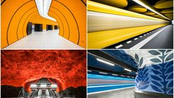 These Photographs Capture the Colorful Architecture of Europe's Metro Stations