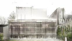 Tomas Ghisellini Architects Propose Shimmering Extension to the Italian Institute of Culture in Paris