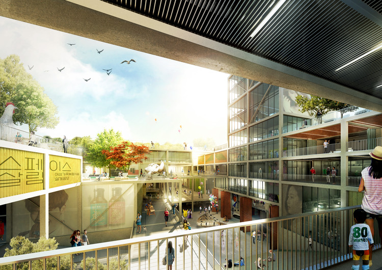 TA.R.I Architects Wins Second Prize for a Women's Complex Competition in Seoul, Courtesy of TA.R.I Architects