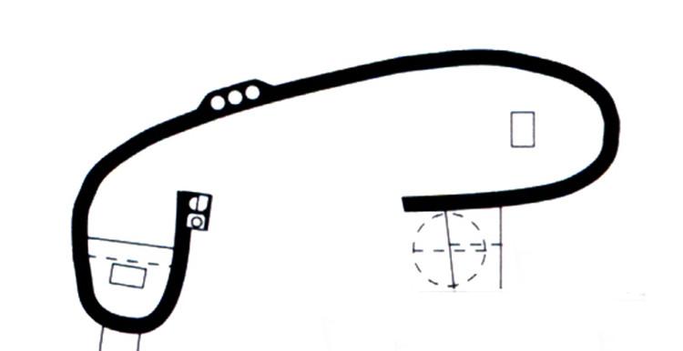 Pared en forma de L de la capilla de Ronchamp. Image © Fondation Le Corbusier