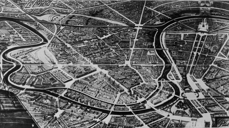 """Has """"Terror"""" Been an Important Factor in Shaping Russian Cities?, Perspective view of the Zamoskvorechye district of Moscow. Image Courtesy of Strelka Magazine"""