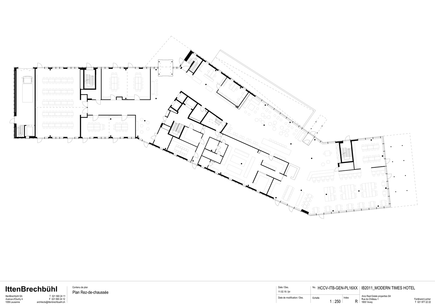 Gallery of modern times hotel itten brechb hl 24 for Modern site plan