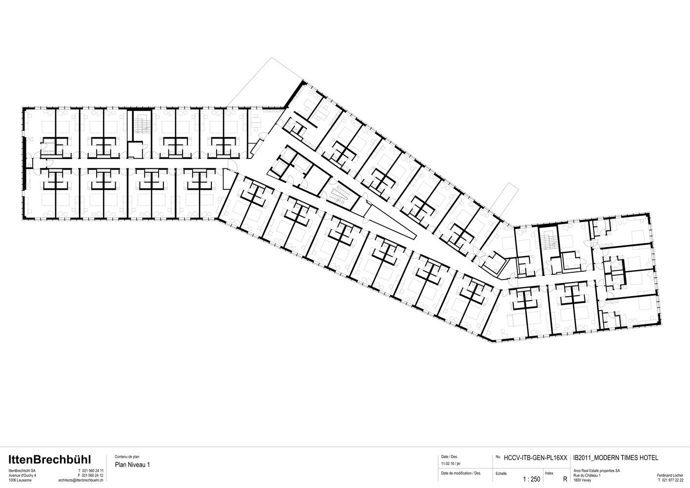 Gallery of modern times hotel itten brechb hl 24 for Modern site plan