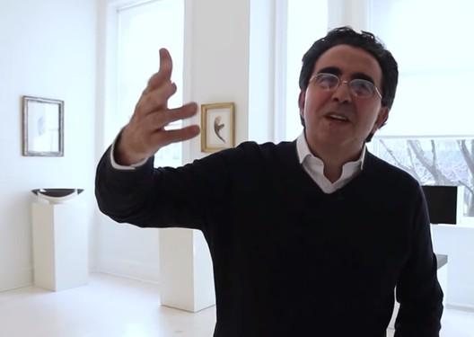Image via screenshot from <a href='http://www.archdaily.com/773960/video-santiago-calatrava-discusses-the-wtc-transportation-hub'>ArchDaily's interview with Calatrava</a>.