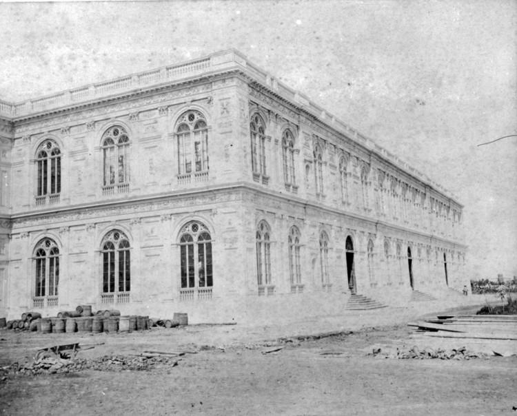 Palacio de la Exposición, fachada oeste. 1871. Estudio Courret Hermanos.. Image © Archi. Archivo Digital de Arte Peruano