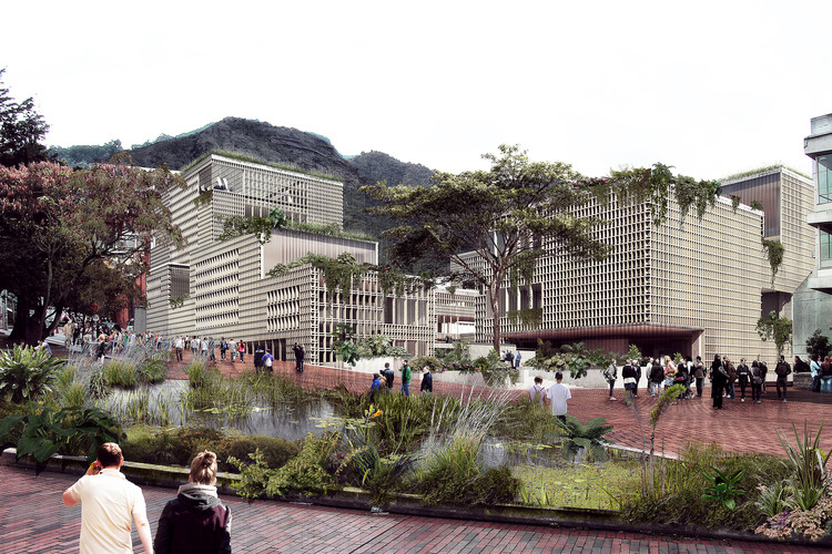 Taller Síntesis + Connatural, finalistas del centro cívico de Universidad Los Andes en Bogotá, Cortesía de Taller Síntesis + Connatural