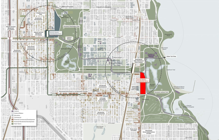Obamas Select South Chicago Site for Presidential Library, © PLSouthSide.org (image modified to show selected site)