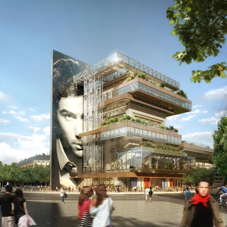 This Speculative Project Imagines A Mixed-Use Building Wrapped Around the Arc de Triomphe, © Patterlini Benoit