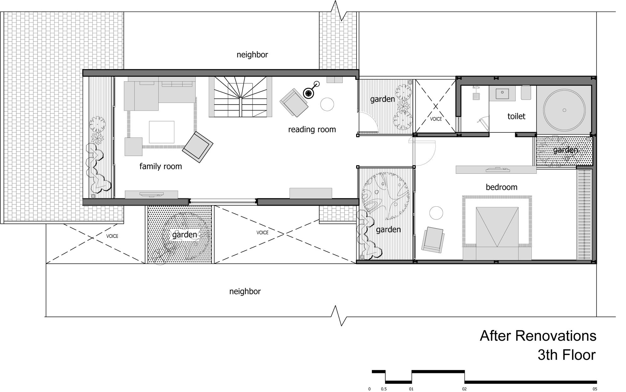 Gallery of attic apartment tropikon 24 for Apartment renovation plans