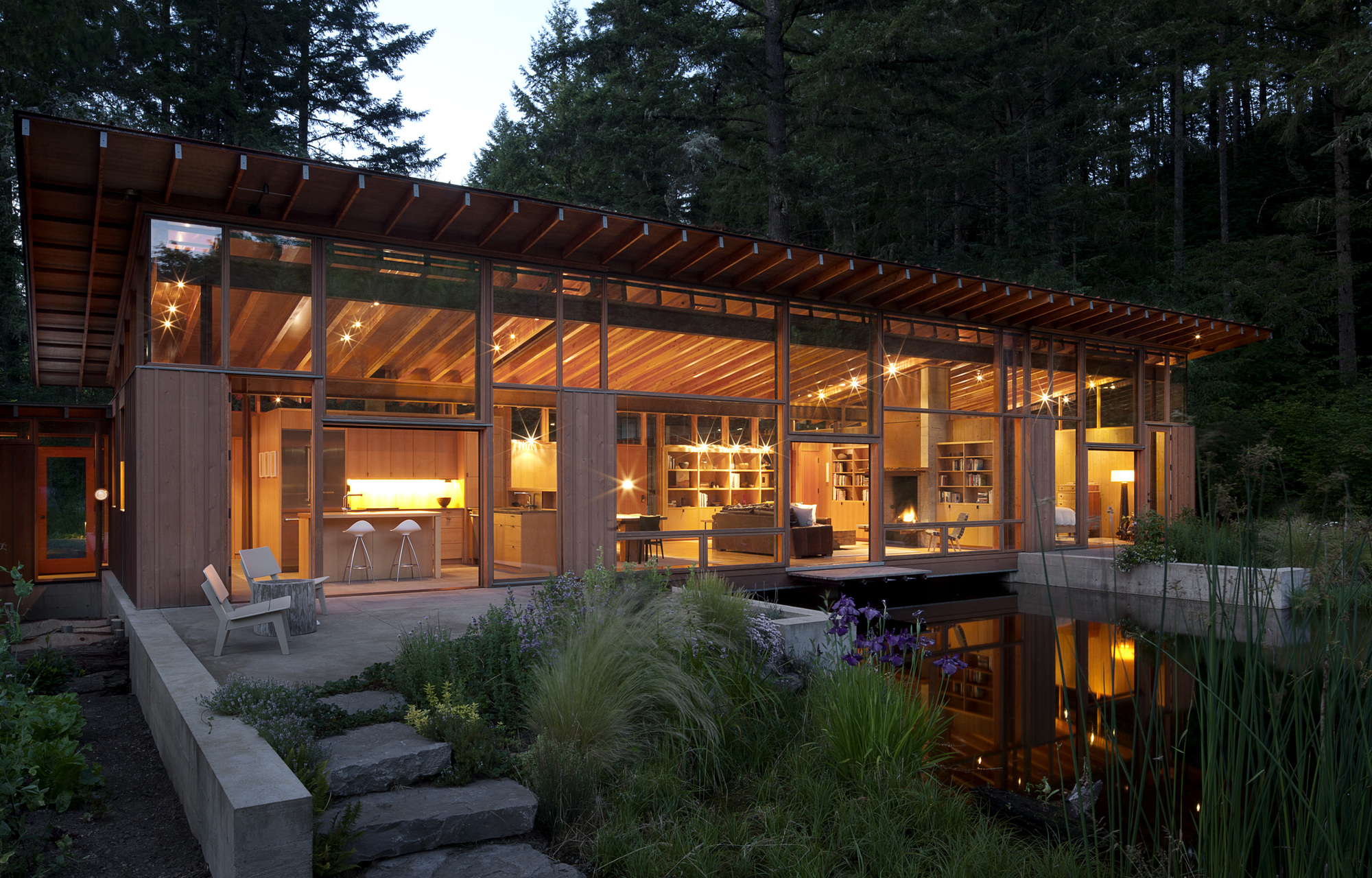 Hillside Floor Plans Gallery Of Newberg Residence Cutler Anderson Architect 9