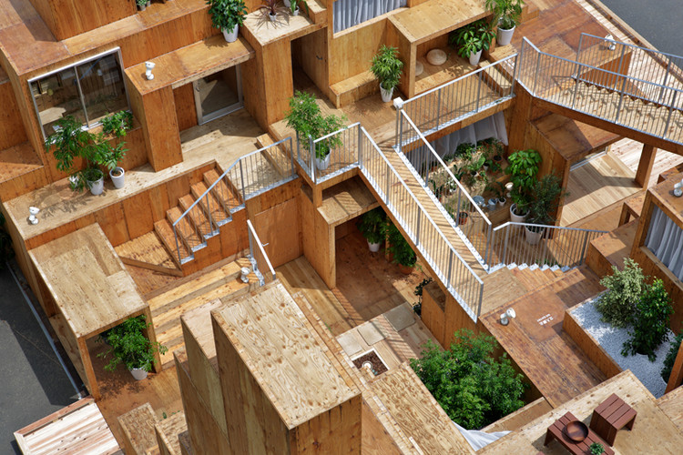 Rental Space Tower / Daito Trust Construction Co., Ltd. × Sou Fujimoto. Image Courtesy of HOUSE VISION Tokyo
