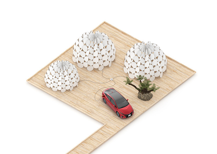 Grand Third Living Room / TOYOTA × Kengo Kuma. Image Courtesy of HOUSE VISION Tokyo