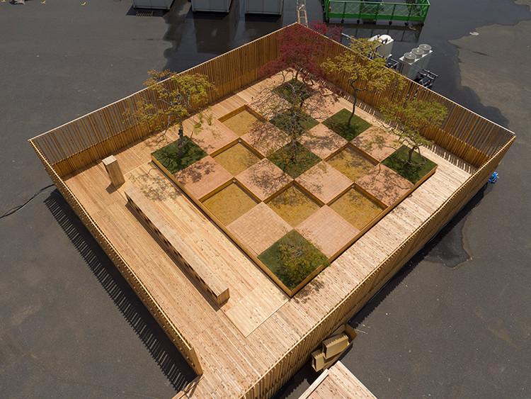 Checkered Waterside / Sumitomo Forestry × Nishihata Seijun × Kengo Kuma (venue configuration). Image Courtesy of HOUSE VISION Tokyo