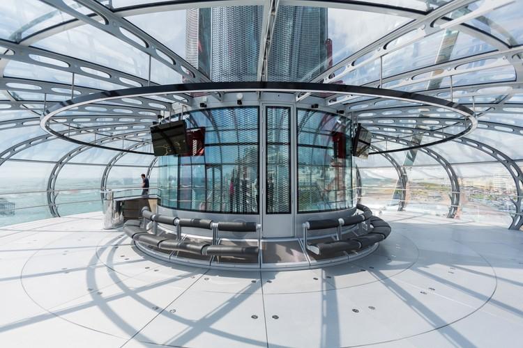 Interior de la cápsula de British Airways i360. Imagen cortesía de British Airways i360