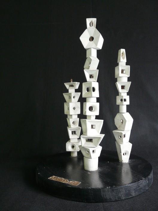 Un estudio de una escultura para el proyecto de Biscayne Boulevard. Imagen © Burle Marx & Cia. Ltda., Río de Janeiro. Reproducido con permiso. Todos los derechos reservados