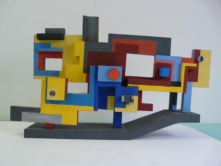 Un modelo de un hito escultórico para la no realizada Praça Sérgio Pacheco, el Ayuntamiento, el proyecto de Uberlândia (1974). Imagen © Burle Marx & Cia. Ltda., Río de Janeiro. Reproducido con permiso. Todos los derechos reservados