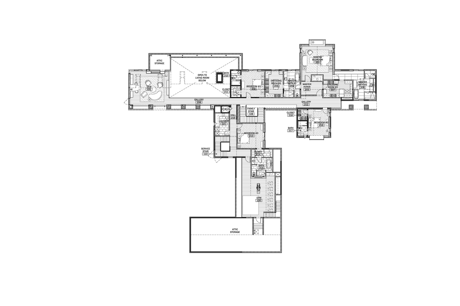 gallery of modern barn house rios clementi hale studios 16 modern barn house 2nd floor plan