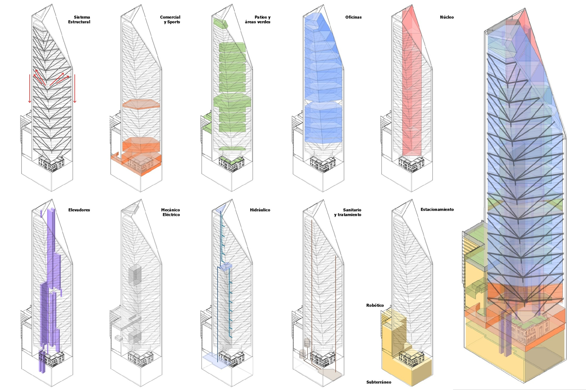 Triangular Floor Plan Gallery Of Torre Reforma Lbr A 26
