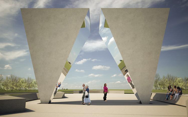 Primer lugar Concurso de Ideas Monumento del Bicentenario / Junin, Argentina, Cortesía de Municipalidad Junín