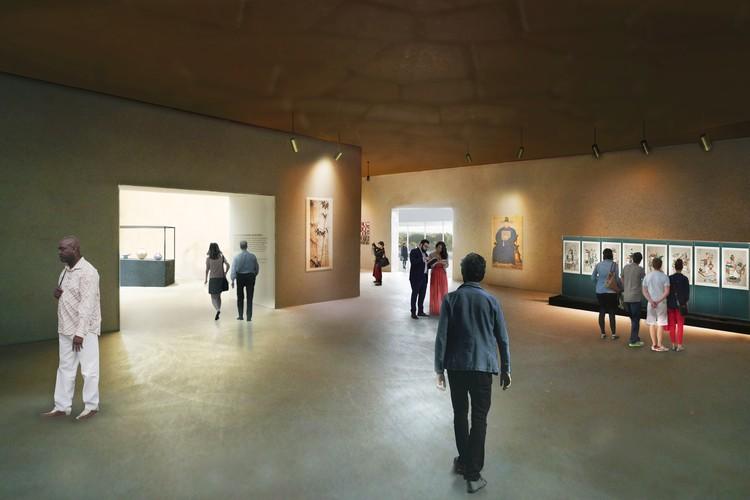 """Perspectiva Galería """"Cabinet"""". Imagen Cortesía de LACMA"""