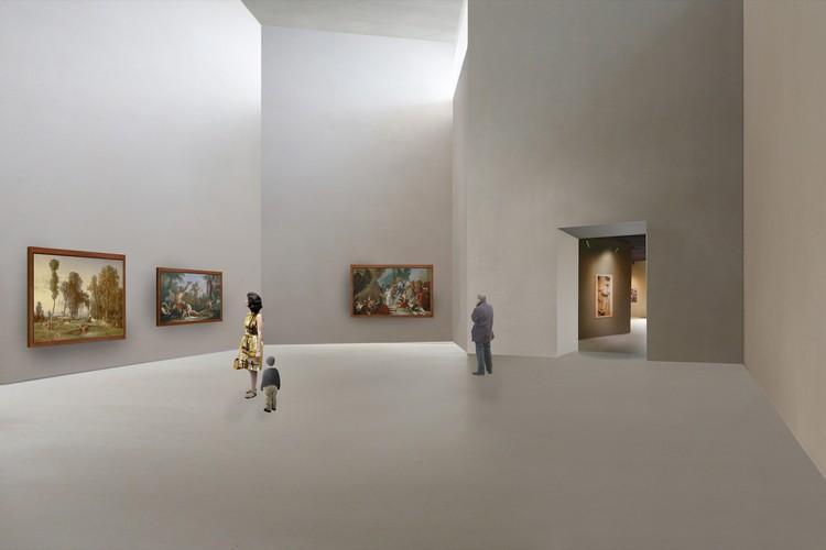 """Perspectiva Galería """"Chapel"""". Imagen Cortesía de LACMA"""