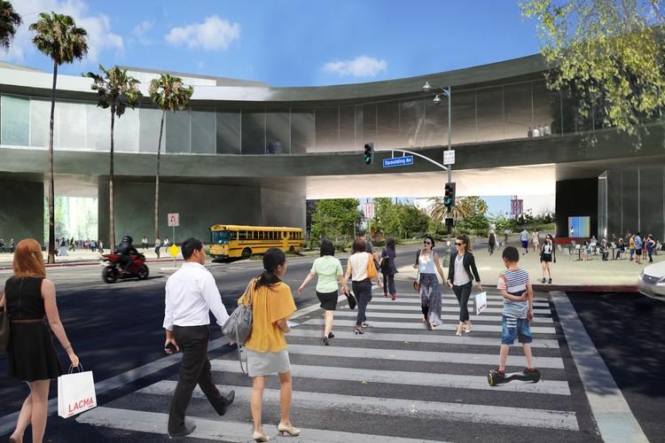 Cruce desde Wilshire hasta Avenida Spauling . Imagen Cortesía de LACMA
