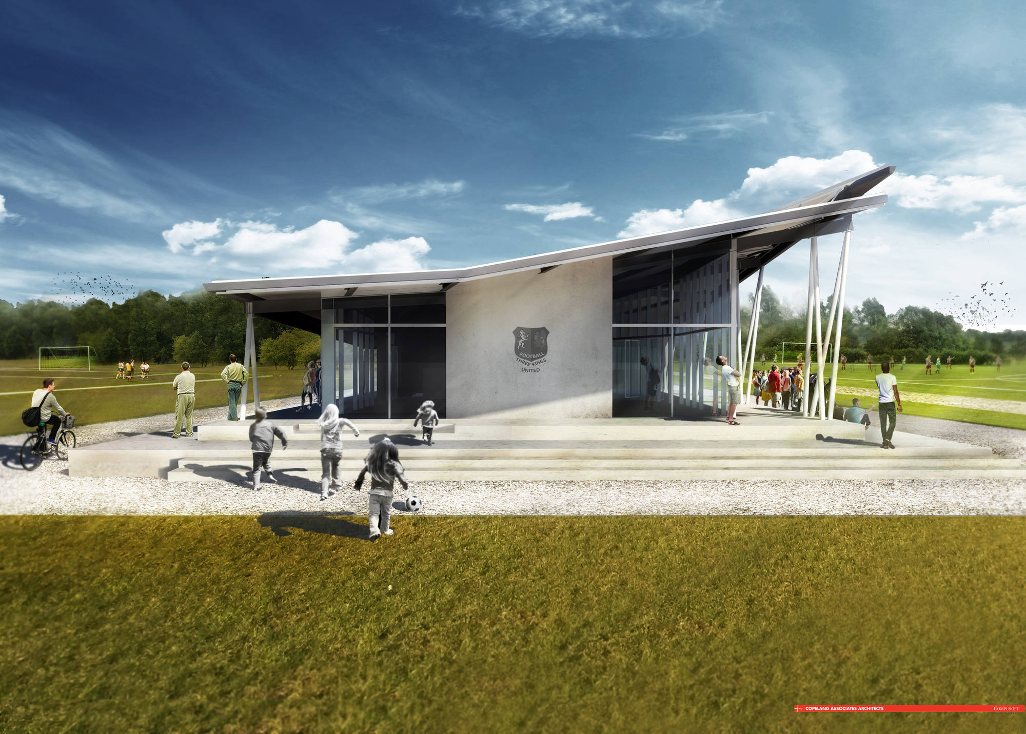 sports architecture archdaily copeland associates architects design new soccer clubhouse in