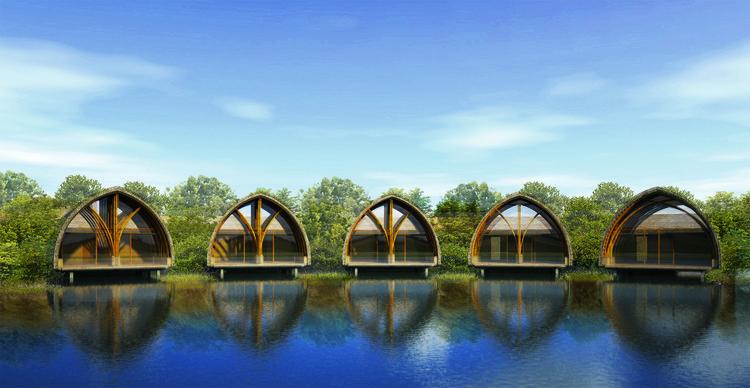 Salas de tratamiento. Imagen cortesía de Vo Trong Nghia Architects