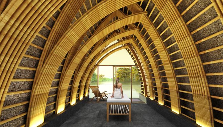 Interior de las salas de tratamiento. Imagen cortesía de Vo Trong Nghia Architects