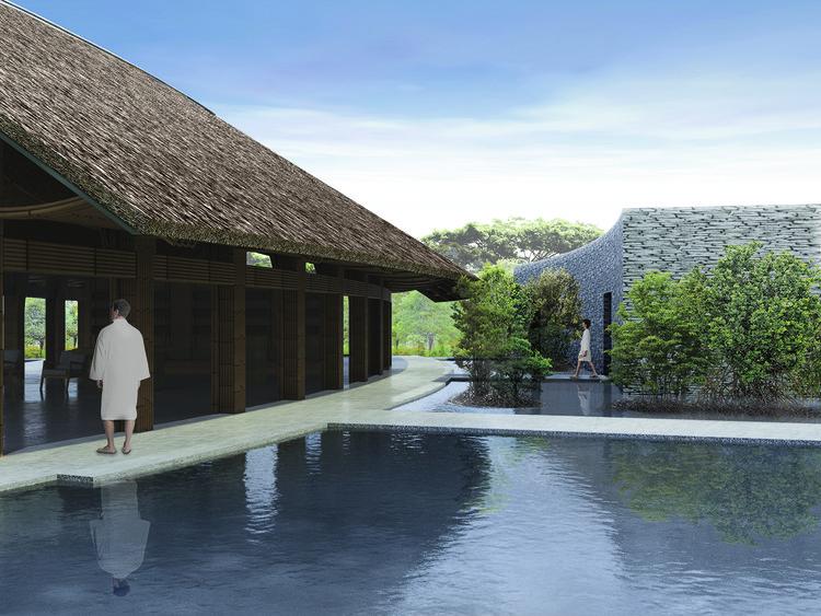 Vista desde el acceso principal. Imagen cortesía de Vo Trong Nghia Architects