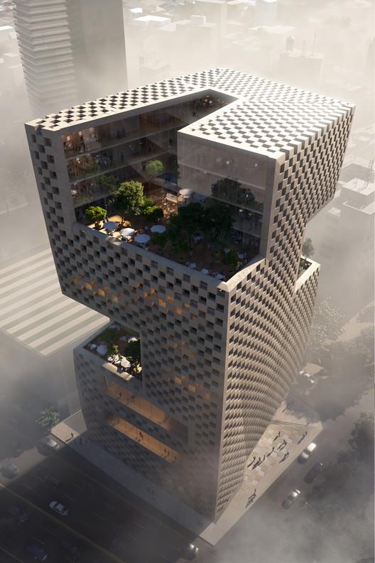 Snøhetta gana concurso para diseñar la sede del Banco de Beirut, © MIR/Snøhetta