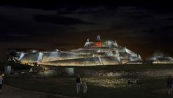 OPUS + PLUZ, mención honrosa en concurso de iluminación del castillo San Felipe de Barajas en Cartagena