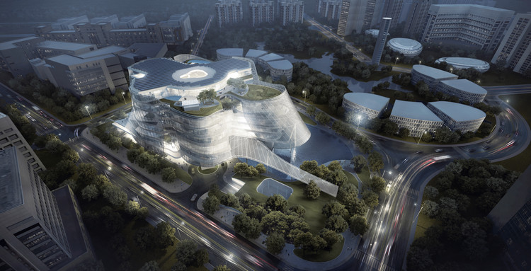 MAD Architects Design Veiled Xinhee Design Center in Xiamen, Courtesy of MAD Architects