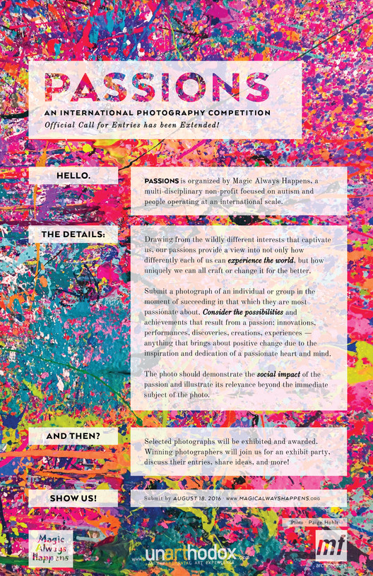 Passions: International Photography Competition, PASSIONS: An International Photography Competition Official Call for Entries