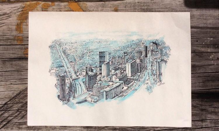 ¿Cómo es realmente Bogotá? Las fachadas y perspectivas ilustradas por Lizeth León, Cortesía de Lizeth León