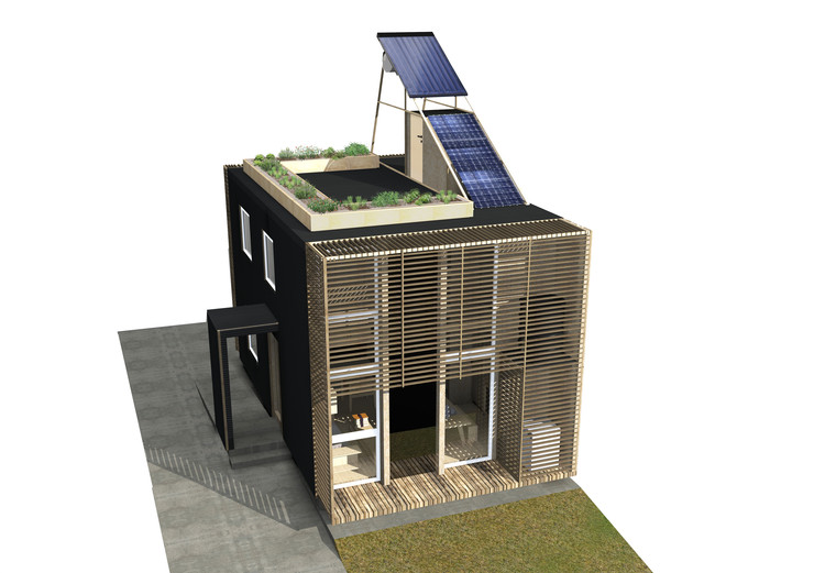 Cas3a / Universidad del Desarrollo. Image Cortesía de Construye Solar