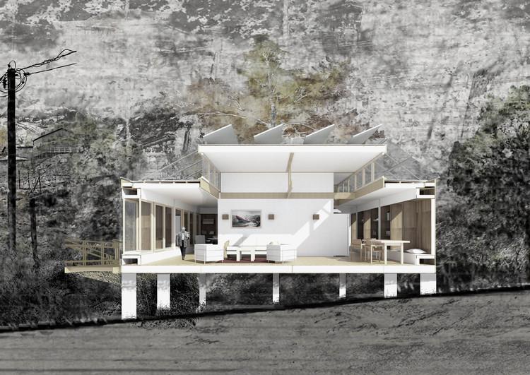 Casa Cebolla / Universidad de Chile. Image Cortesía de Construye Solar