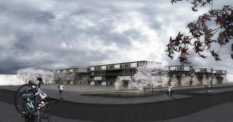 Módulo Tendal / Universidad Central. Image Cortesía de Construye Solar
