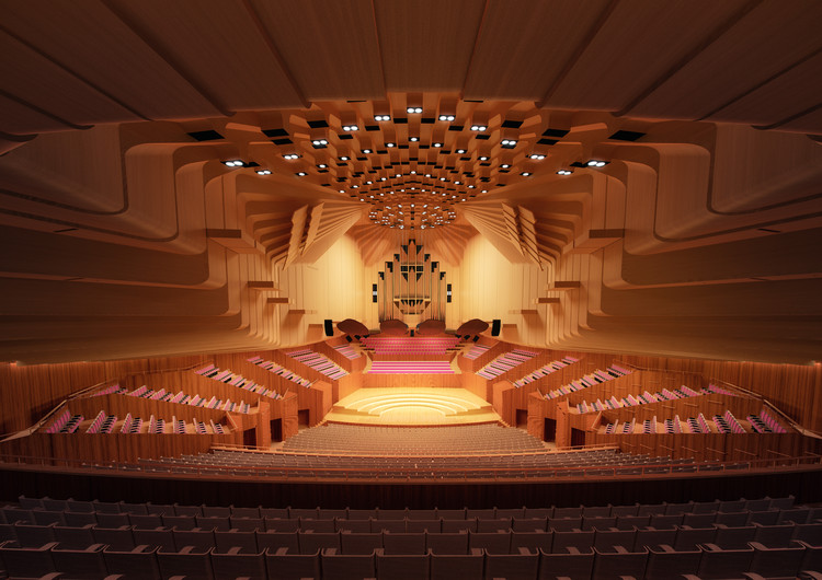 Sydney Opera House to Undergo $202 Million Renovation, Concert Hall. Image Courtesy of Sydney Opera House