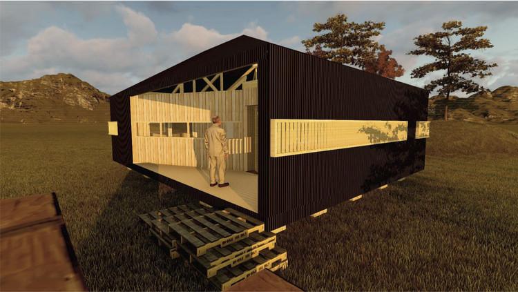 Casa Lafken-Che / Universidad Mayor. Image Cortesía de Construye Solar