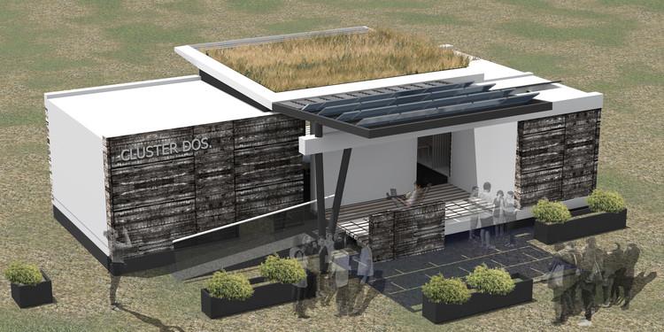 Casa Cluster 02 / Universidad de Concepción. Image Cortesía de Construye Solar