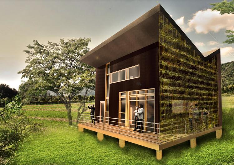 Vivienda Galería / Universidad Católica del Norte. Image Cortesía de Construye Solar
