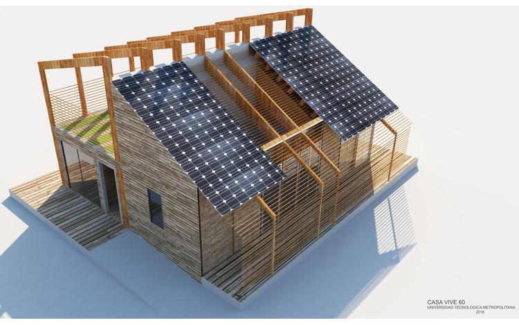 Casa Vive 60 / Universidad Tecnológica Metropolitana. Image Cortesía de Construye Solar