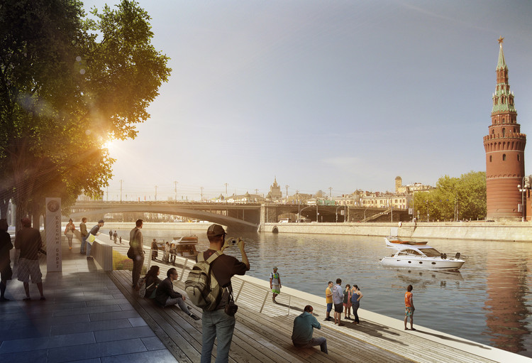 Moscow River Competition, 2014 (under construction). Image Courtesy of Project Meganom
